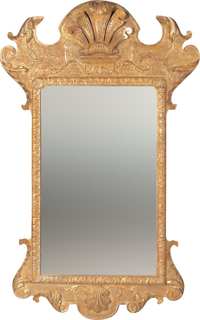 George I Gesso Mirror traditional-mirrors