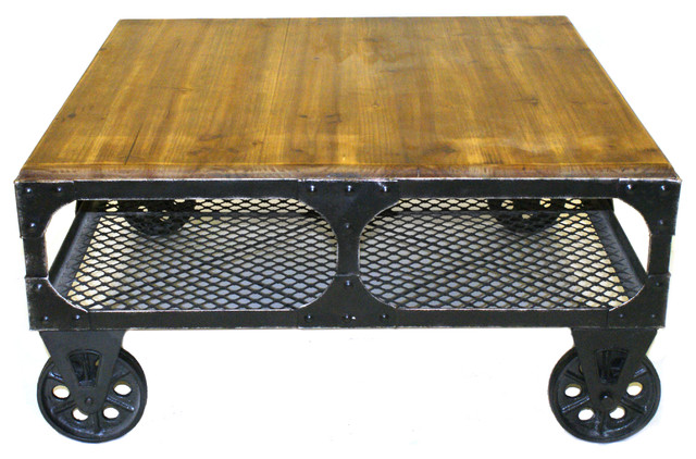 Alfred Coffee Table Small Amber Industrial Coffee Tables By Pangea Home