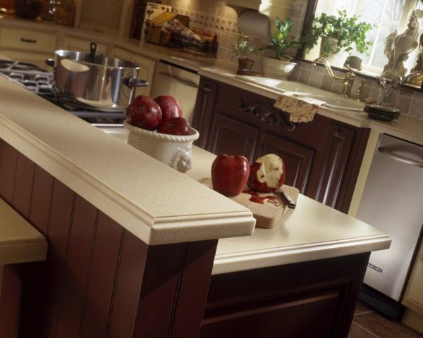 Countertop Edges For Corian : Corian? Mojave counter with edge detail. - Transitional - Kitchen ...