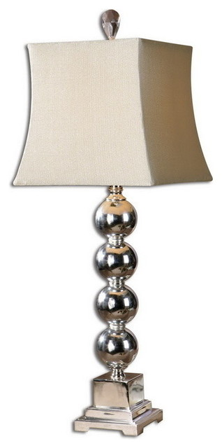 Uttermost 26689  Sachie Stacked Spheres Table Lamp transitional-table-lamps
