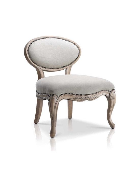 Saunders Louis XV Mist Slipper Chair - For more information: