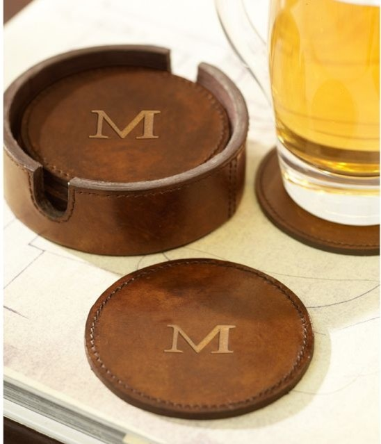 cool drink coasters saddle leather drink coasters traditional coasters - Drink Coasters
