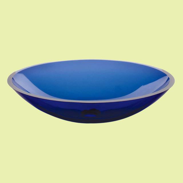 vessel sinks blue monday glass vessel sink oval