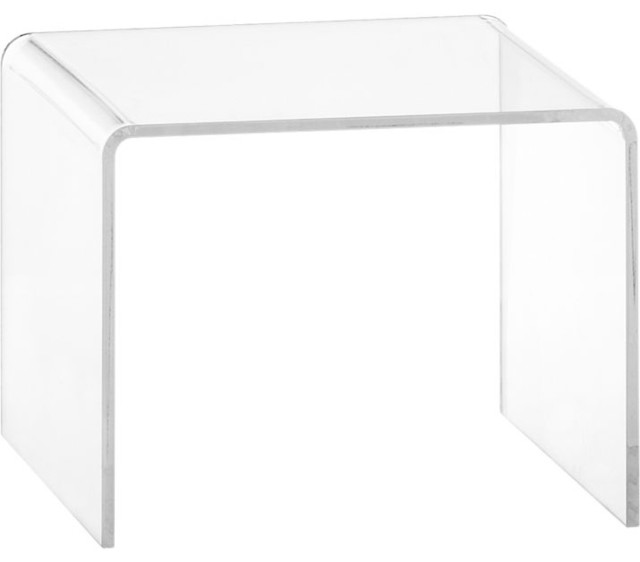 Peekaboo Clear Low Side Table Modern Side Tables And End Tables By Cb2