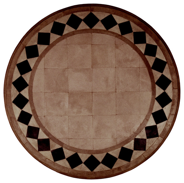 Venetian Tile Table Top Round Mediterranean Dining Tables Other Metro By Gilani