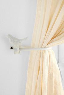 Bird curtain tie backs