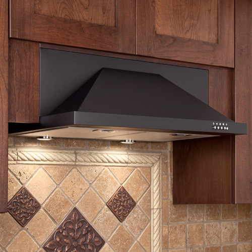 "30"" Artisan Series Stainless Steel Black Under-Cabinet Range Hood - 600 CFM - Contemporary ..."