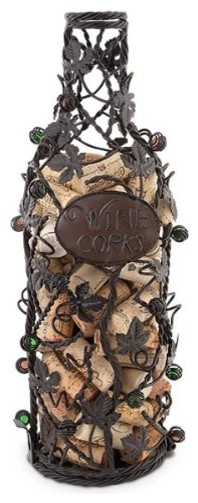 Epic Products Grapevine Wine Bottle Cork Cage contemporary-home-decor