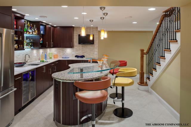 Wheaton lower level renovation contemporary-basement