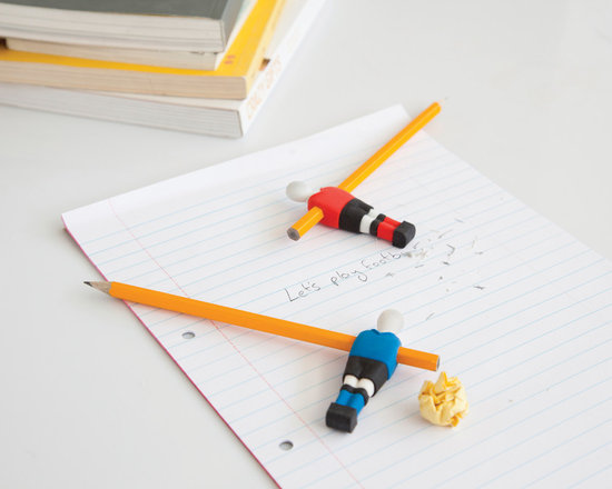 Penball Football Erasers -