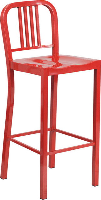 Red Metal Bar Stool Industrial Bar Stools And Counter