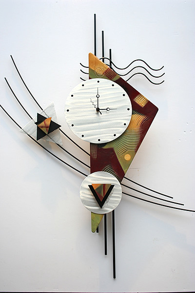 Metal Wall Clock Sculpture Contemporary Wall Clocks