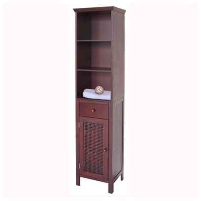 Cane Linen Tower Traditional Bathroom Cabinets And Shelves