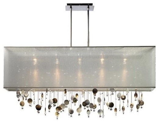 Finishing touches 44 wide rectangular pendant chandelier for Rectangular dining room light