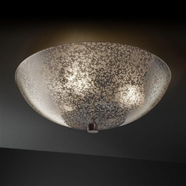 "Justice Design FSN-9671-35-MROR-DBRZ FusionCollection - 18"" Semi-Flush Bowl ceiling-lighting"