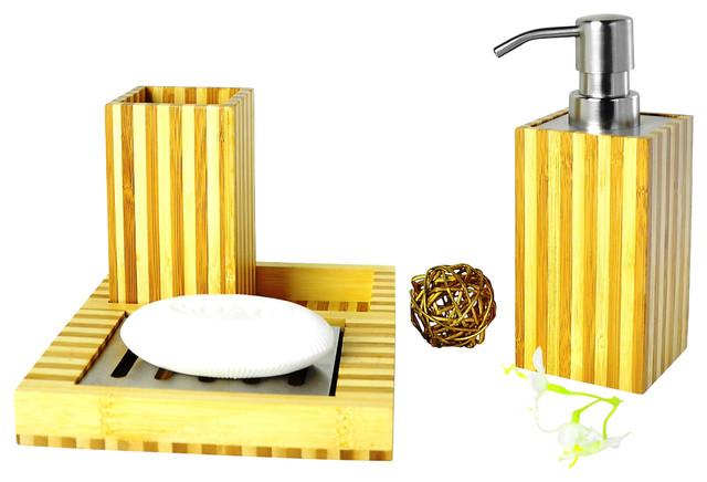 Fiji Style Set Bamboo Tropical Bathroom Accessory