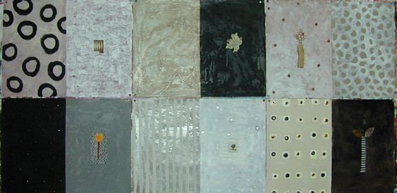 Art: palette gray, black, beige, brown  artwork