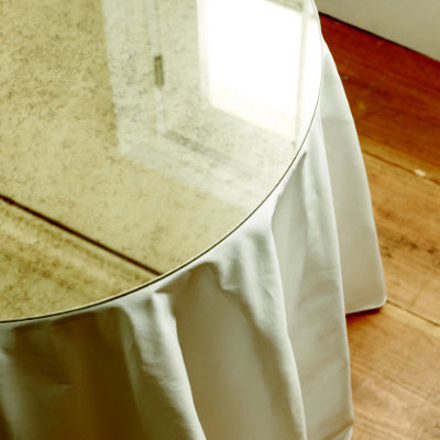 """30"""" Antiqued Mirror Table Topper traditional-tabletop"""