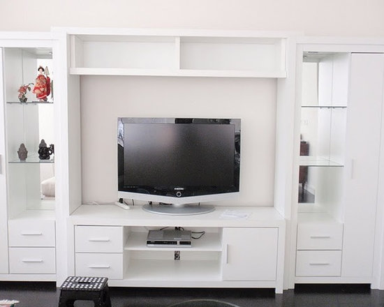 Chrystie Entertainment Center - The Chrystie Entertainment Center, with a transitional style that's not really traditional, but doesn't exactly reach all the way over into contemporary territory, has long been our best selling unit.