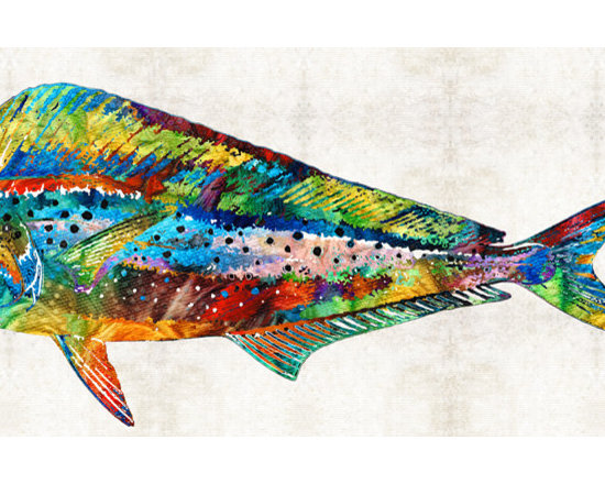 Animals, Fish and Birds - Colorful Dolphin Fish by Sharon Cummings