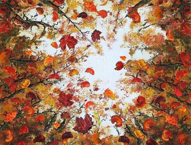 Tree Forest Wall Artwork - Glory Days contemporary-artwork