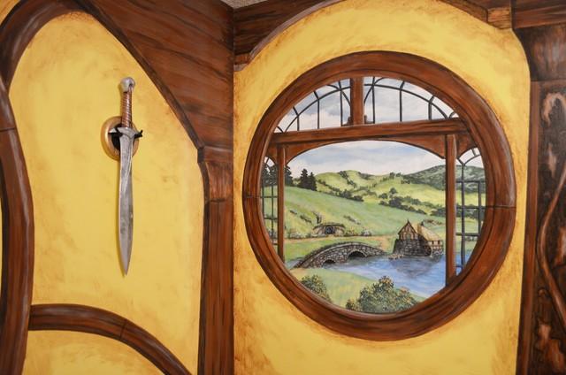 Johnny S Hobbit Hole Room Shire Window Rustic