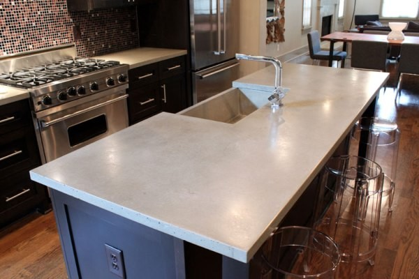 Concrete countertops kitchen countertops other metro for Concrete kitchen countertops reviews