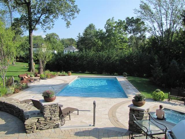 Essex County, NJ Landscape & Inground Pool Design Case Study modern