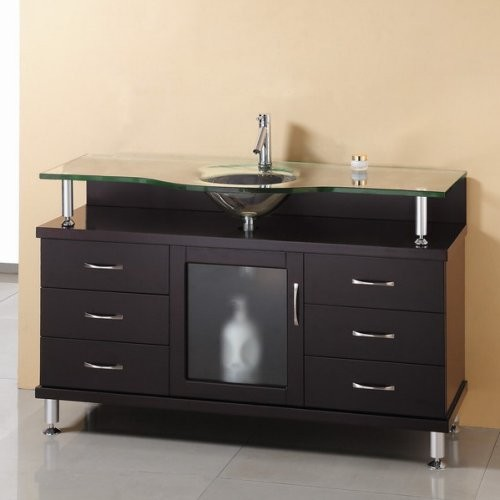 Virtu USA Vincente 55-in. Espresso Single Bathroom Vanity MS-55 contemporary-bathroom-vanities-and-sink-consoles