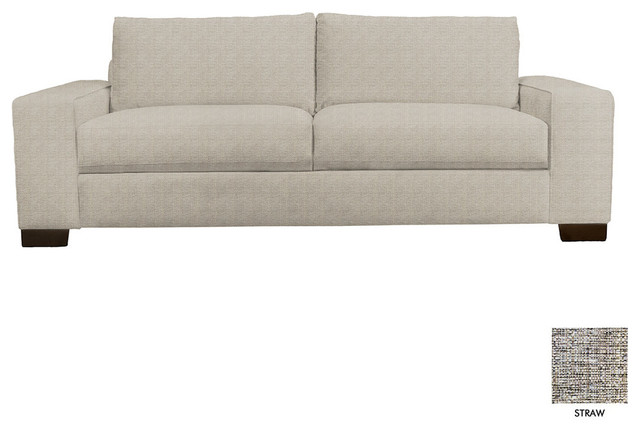 Melrose Wide Arm Sofa Straw Modern Sofas By Apt2b