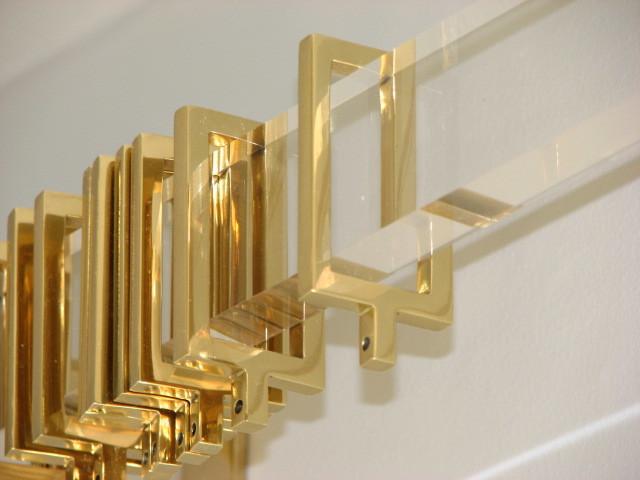 Rectangular Acrylic Drapery Hardware Curtain Rods Dc