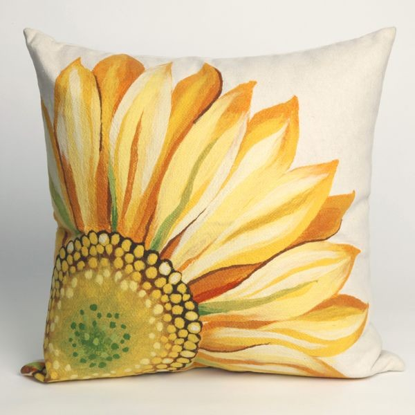 Sunflower Yellow Outdoor Pillow Cushions And