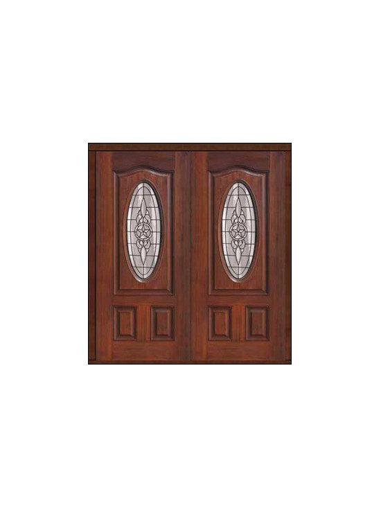 """Prehung Double Door 80 Fiberglass Brazos Eyebrow Oval Lite Glass - SKU#MCT02705_DFOBZ2BrandGlassCraftDoor TypeExteriorManufacturer CollectionOval Lite Entry DoorsDoor ModelBrazosDoor MaterialFiberglassWoodgrainVeneerPrice2940Door Size Options2(32"""")[5'-4""""]  $02(36"""")[6'-0""""]  $0Core TypeDoor StyleDoor Lite StyleOval LiteDoor Panel StyleEyebrowHome Style MatchingDoor ConstructionPrehanging OptionsPrehungPrehung ConfigurationDouble DoorDoor Thickness (Inches)1.75Glass Thickness (Inches)Glass TypeDouble GlazedGlass CamingBlackGlass FeaturesTempered glassGlass StyleGlass TextureGlass ObscurityDoor FeaturesDoor ApprovalsEnergy Star , TCEQ , Wind-load Rated , AMD , NFRC-IG , IRC , NFRC-Safety GlassDoor FinishesDoor AccessoriesWeight (lbs)603Crating Size25"""" (w)x 108"""" (l)x 52"""" (h)Lead TimeSlab Doors: 7 Business DaysPrehung:14 Business DaysPrefinished, PreHung:21 Business DaysWarrantyFive (5) years limited warranty for the Fiberglass FinishThree (3) years limited warranty for MasterGrain Door Panel"""