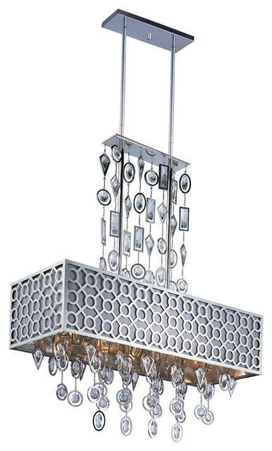 Maxim Lighting 22387STPN Symmetry 8-Light Chandelier transitional-kitchen-lighting-and-cabinet-lighting
