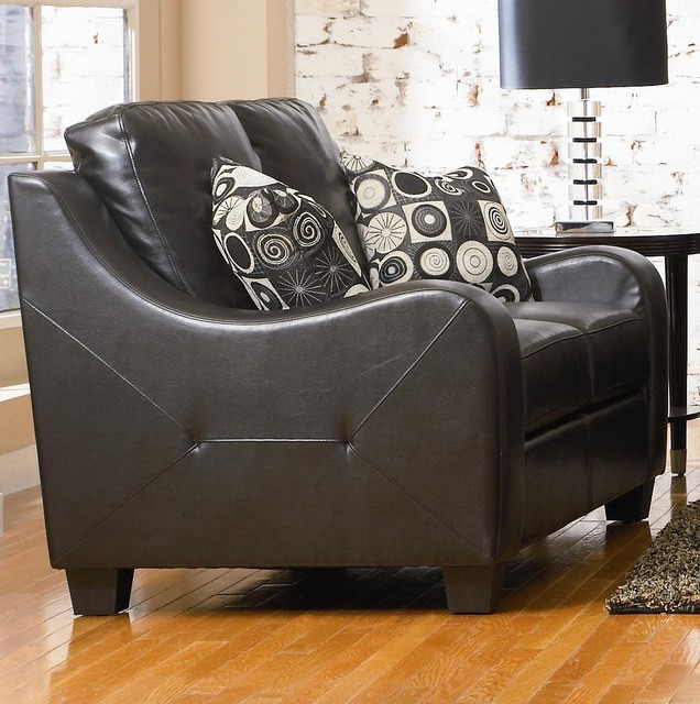 Java Contemporary Leather Love Seat by Coaster Sku: 502272 contemporary love seats