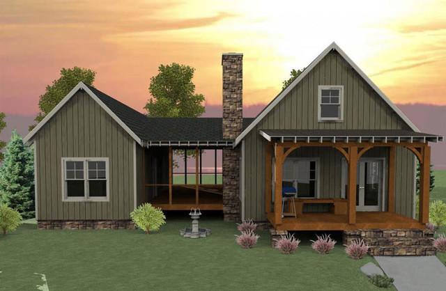 Camp Creek Cabin traditional-rendering