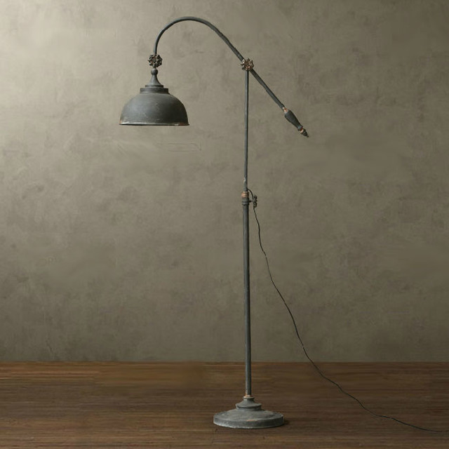 LOFT RH Antique Metal Floor Lamp - Rustic - Floor Lamps ...