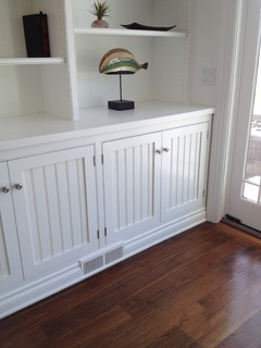 Just bought a place and every room has white beadboard cabinet doors.