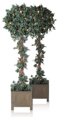 Balsam Hill Ivy Globe Topiary Artificial Christmas Tree traditional-artificial-plants-and-trees