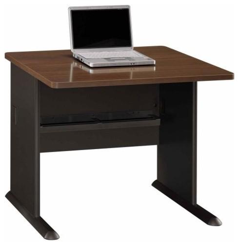Bush A-Series 36 Inch Desk in Sienna Walnut and Bronze contemporary-desks-and-hutches
