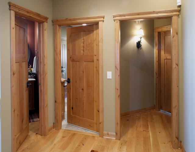 Knotty Alder stile & rail wood interior door with flat panels - minneapolis - by Stallion Doors ...