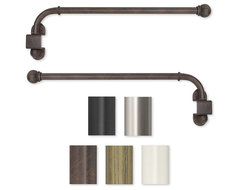 Swing Arm 24 to 38-inch Adjustable Curtain Rod contemporary-curtains