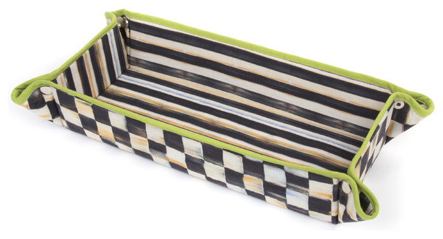 Courtly Check Baguette Basket | MacKenzie-Childs eclectic-serving-utensils