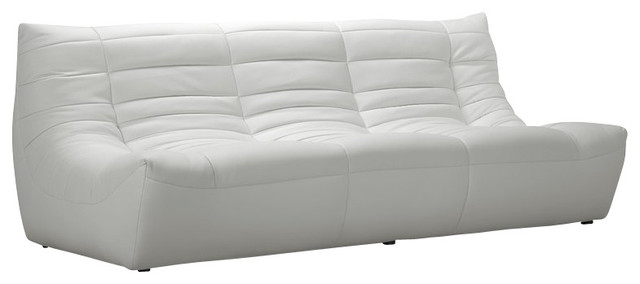 Zuo Carnival Sofa in White contemporary-sofas