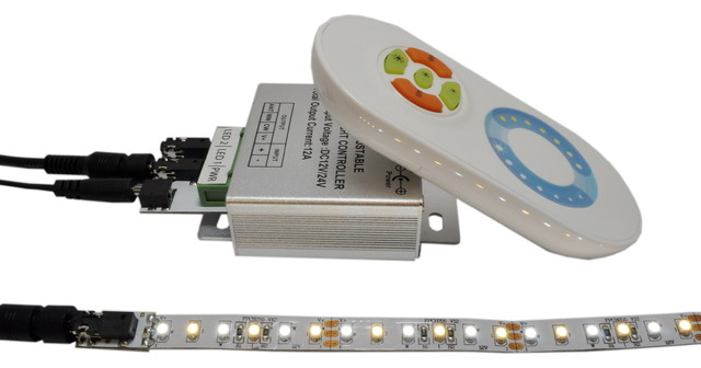 Inspired LED Lighting- Dual White Color Changing Flex Strip and Wireless Remote - Undercabinet ...