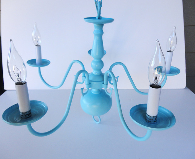 Tiffany Blue Chandelier Modern Vintage by Simply Salvage modern chandeliers