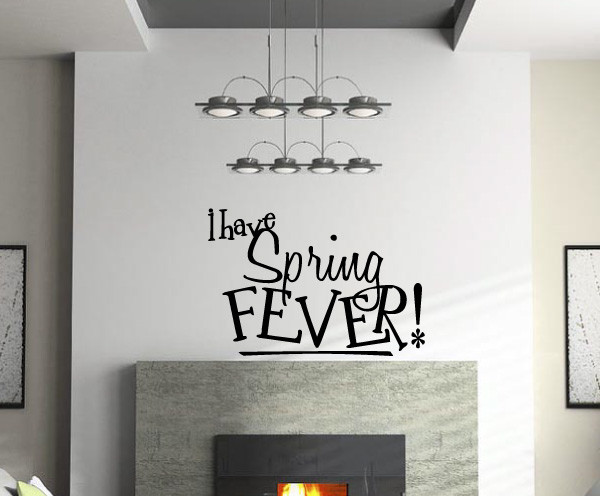I have spring Fever Vinyl Wall Decal hd091, Light Blue, 23 in. contemporary-wall-decals