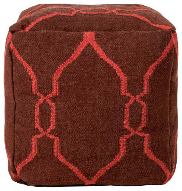 Surya Pouf Ottoman contemporary-footstools-and-ottomans