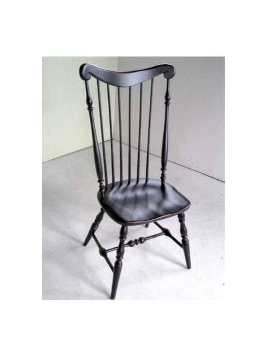 Black High Back Side Dining Chair - Made by http://www.ecustomfinishes.com