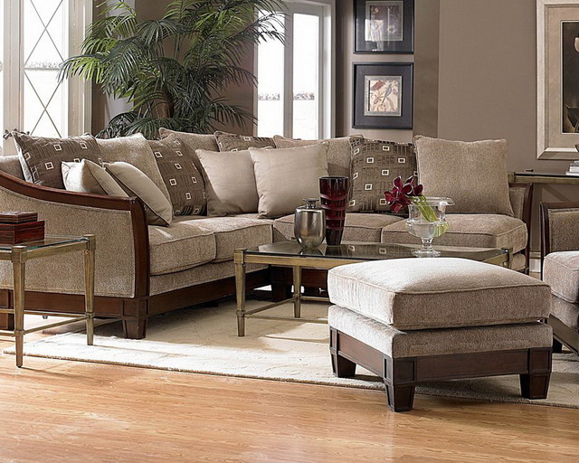 Trenton Chenille Sectional Sofa - Contemporary - Sectional Sofas - new ...